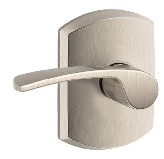 Schlage F10mer619grw Satin Nickel Merano Passage Door