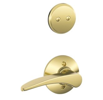Schlage F94mnh605rh Polished Brass Manhattan Right Handed