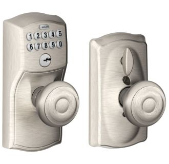 Schlage Fe595cam619geo Satin Nickel Camelot Keypad Entry