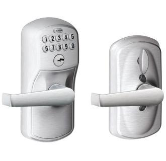 Schlage Fe595ply626ela Satin Chrome Keypad With Flex Lock