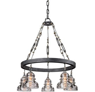 troy lighting f3135 old silver menlo park 5 light chandelier with. Black Bedroom Furniture Sets. Home Design Ideas