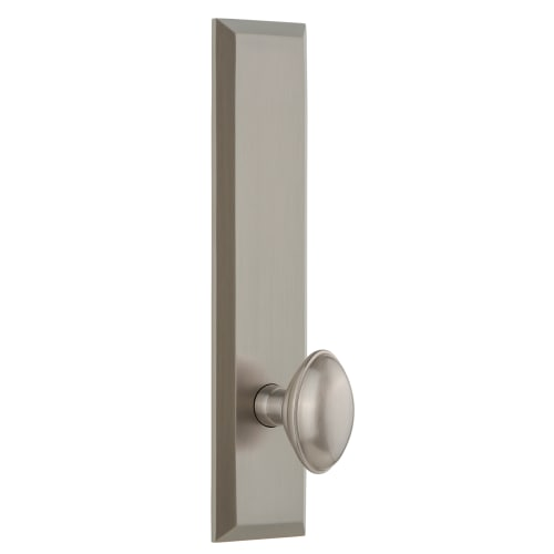 Grandeur FAVEDN_TP_SD_NA Fifth Avenue Solid Brass Tall Plate Single Dummy Door K