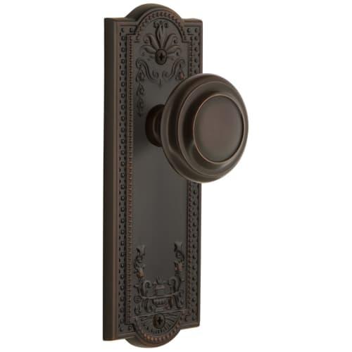 Grandeur PARCIR_PSG_238 Parthenon Solid Brass Rose Passage Door Knob Set with Ci