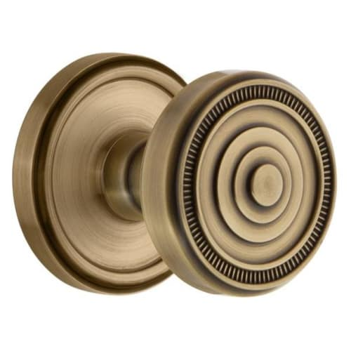 Grandeur GEOSOL_PSG_238 Georgetown Solid Brass Rose Passage Knob Set with Soleil