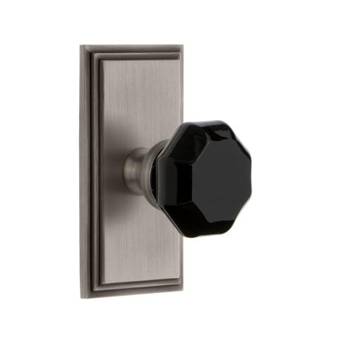 Grandeur CARLYO_PSG_238 Carre Solid Brass Rose Passage Door Knob Set with Lyon B