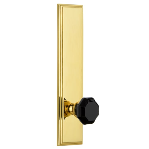 Grandeur CARLYO_TP_SD_NA Carre Solid Brass Rose Single Tall Plate Dummy Door Kno
