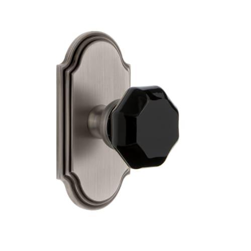 Grandeur ARCLYO_SP_SD_NA Arc Solid Brass Rose Single Dummy Door Knob with Lyon B