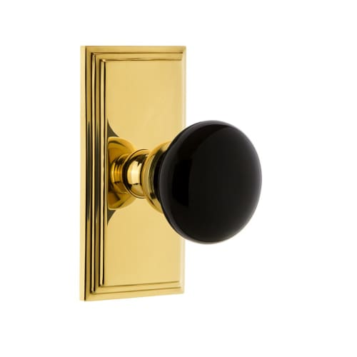 Grandeur CARCOV_PSG_234 Carre Solid Brass Rose Passage Door Knob Set with Covent