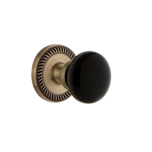 Grandeur NEWCOV_PSG_234 Newport Solid Brass Rose Passage Door Knob Set with Cove