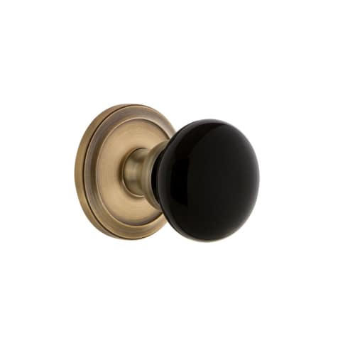 Grandeur CIRCOV_SD_NA Circulaire Solid Brass Rose Single Dummy Door Knob with Co