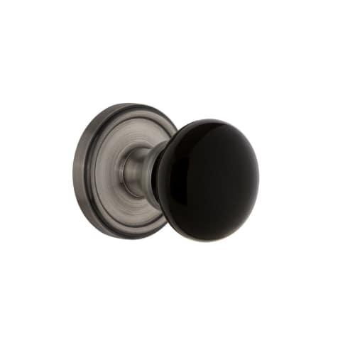 Grandeur GEOCOV_SD_NA Georgetown Solid Brass Rose Single Dummy Door Knob with Co