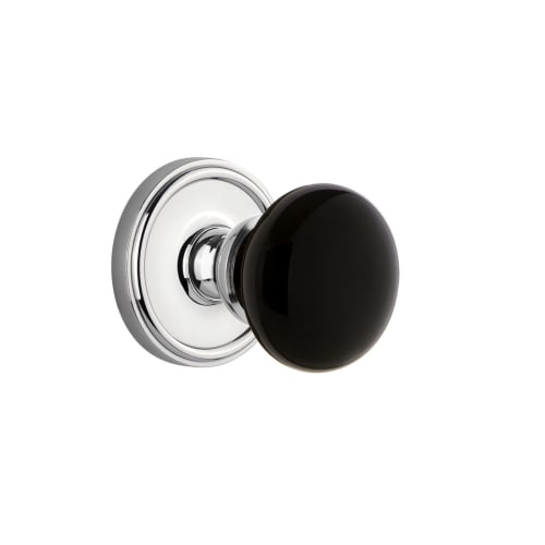 Grandeur GEOCOV_PRV_234 Georgetown Solid Brass Rose Privacy Door Knob Set with C