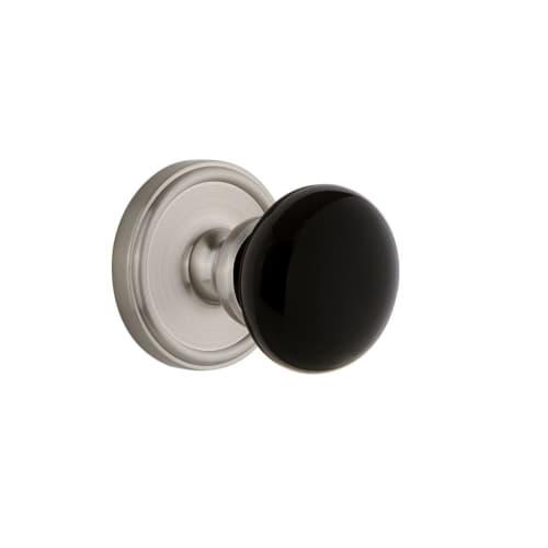 Grandeur GEOCOV_PRV_238 Georgetown Solid Brass Rose Privacy Door Knob Set with C