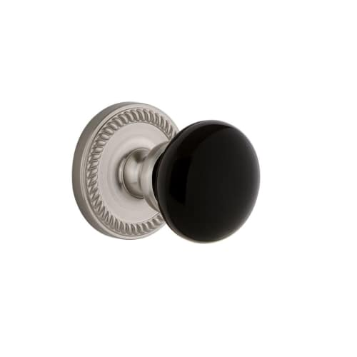 Grandeur NEWCOV_PRV_234 Newport Solid Brass Rose Privacy Door Knob Set with Cove