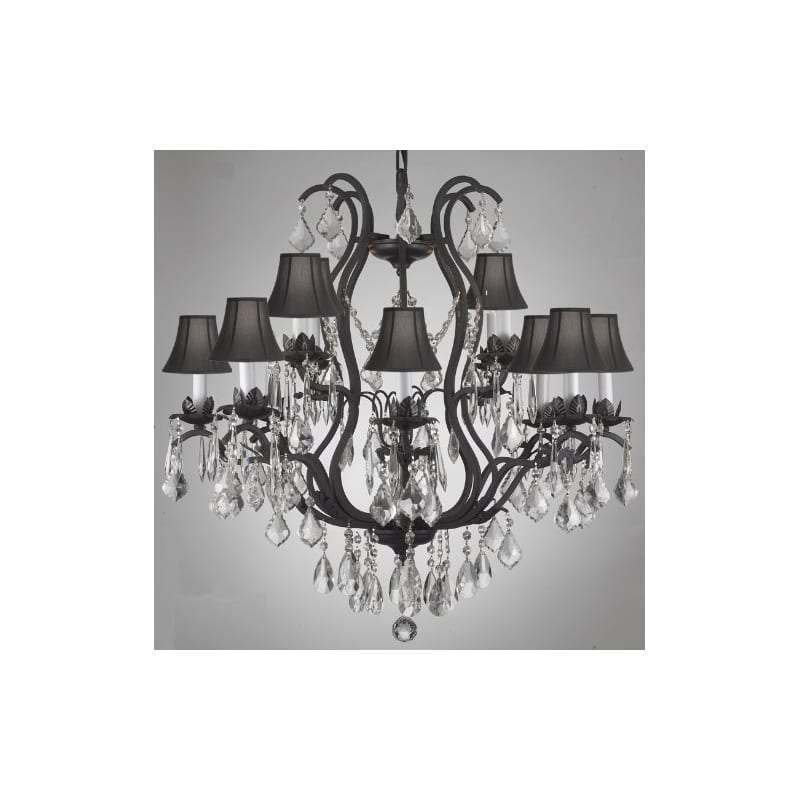 Crystal Chandelier New Elegant Lighting, 9 Lights, H36