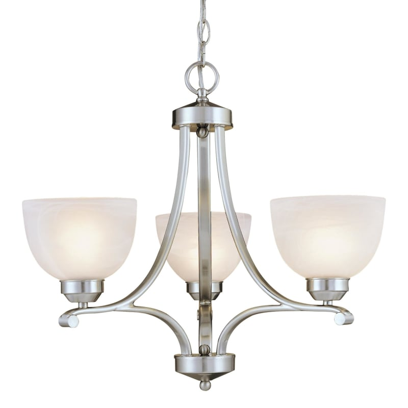Murano 5 Light Crystal Plug In Chandelier with Pink Fabric