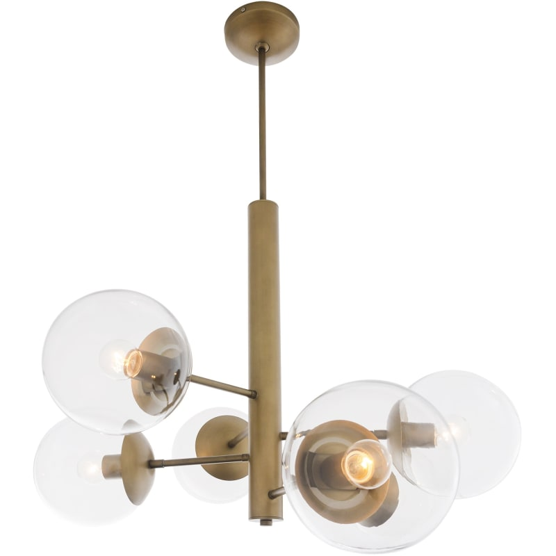 Innovations Lighting 207 BB G202 8 LED Large Beacon LED 22 inch Brushed Brass Chandelier Ceiling Light, Franklin Restoration