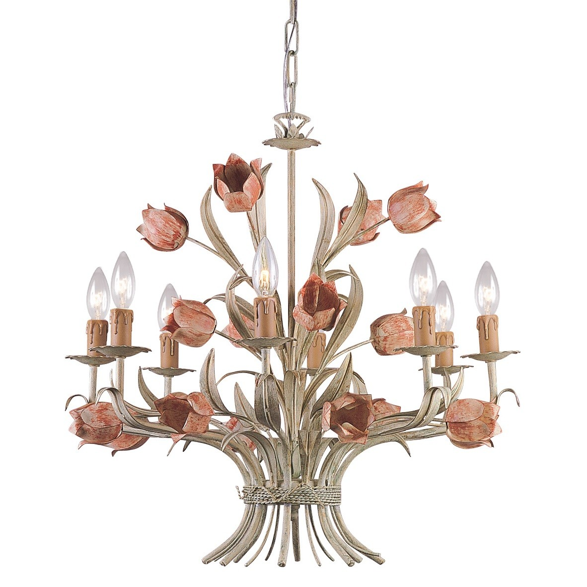Crystorama Lighting Group 4808  Southport 8 Light 24  Wide Chandelier with Iron