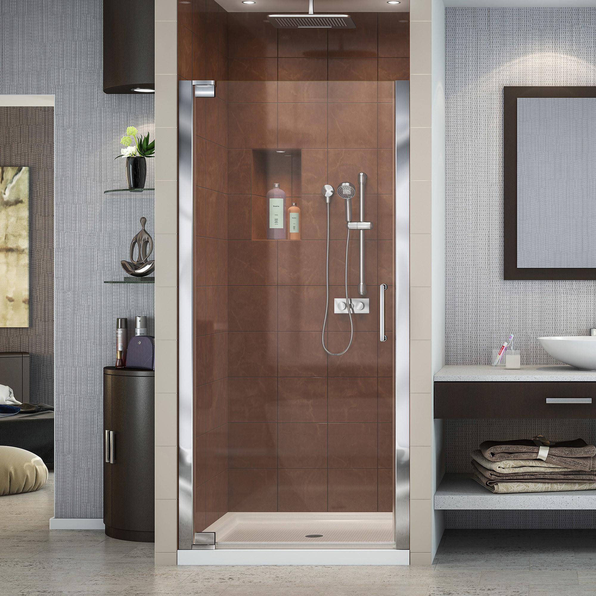 Details About Dreamline Shdr 4127720 Elegance 72 H X 29 W Pivot Frameless Shower Door Chrome