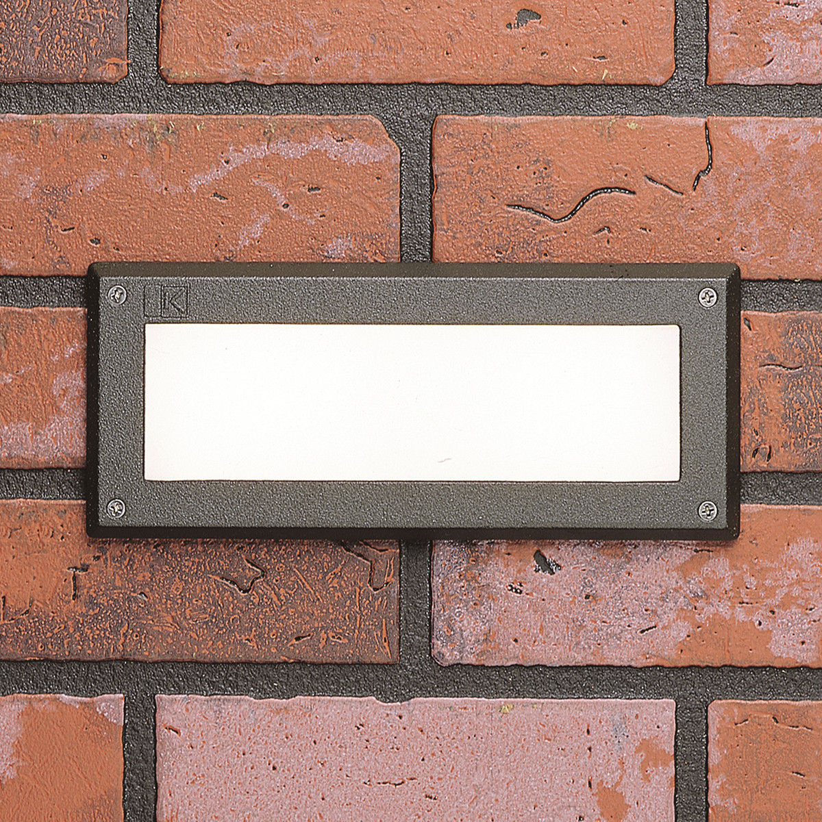 9.5  LED Luz De Ladrillo Kichler 15774-27 con lente de cristal blancoo - 2700K-Bronce