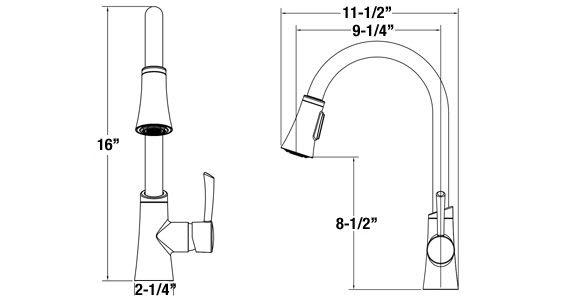 elkay lkgt3031as antique steel gourmet pullout spray single handle kitchen faucet