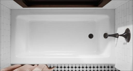 Kohler K 876 0 White Bellwether Collection 60 Quot Three Wall