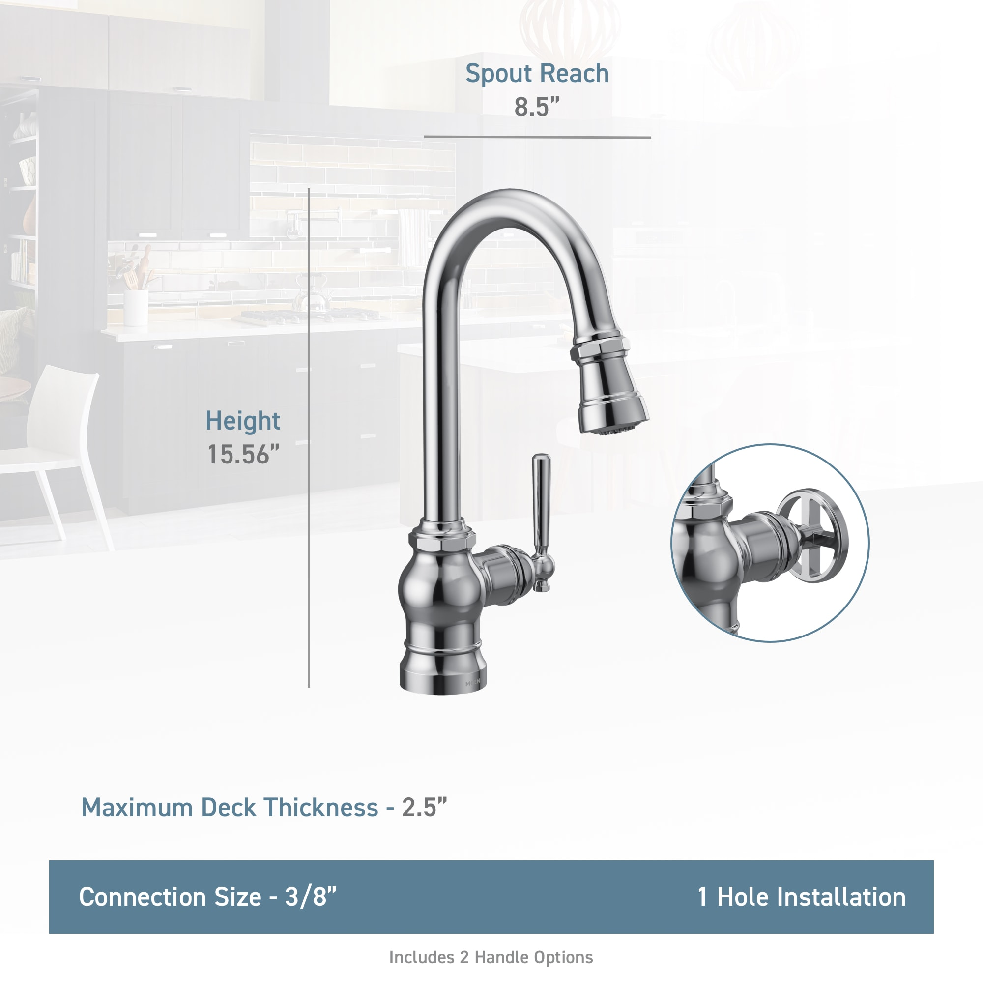 Shop Moen S72003 Paterson 1 5 Gpm Single Hole Pull Down