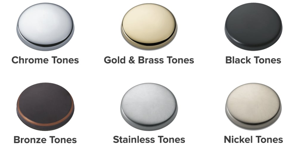 Swatches of different finishes.