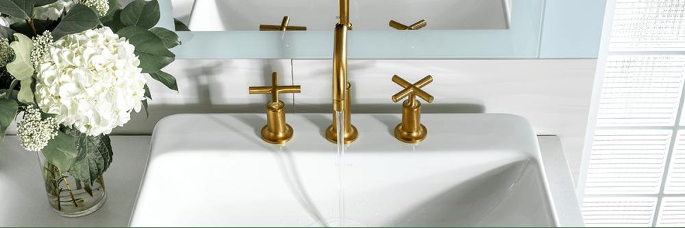 Kohler Purist Faucet with cross handles.