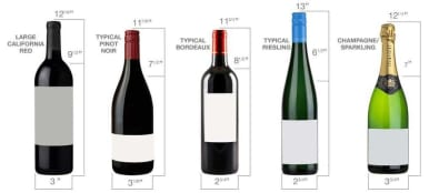 Standard Wine Bottle Dimensions Inches Image Collections