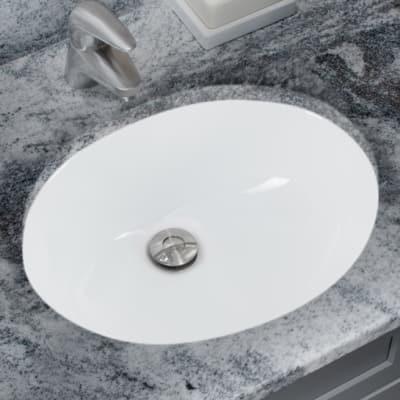 Miseno Mno1512 White 15 Undermount Bathroom Sink With Overflow