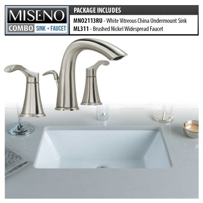 Miseno Mno2113ru Mno311 Bn White Brushed Nickel Bathroom Combo