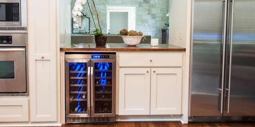Edgestar 36 Bottle Built In Dual Zone French Door Wine