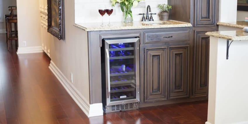 EdgeStar 26 Bottle Dual Zone Stainless Steel Built-In Wine Cooler - CWR262DZ