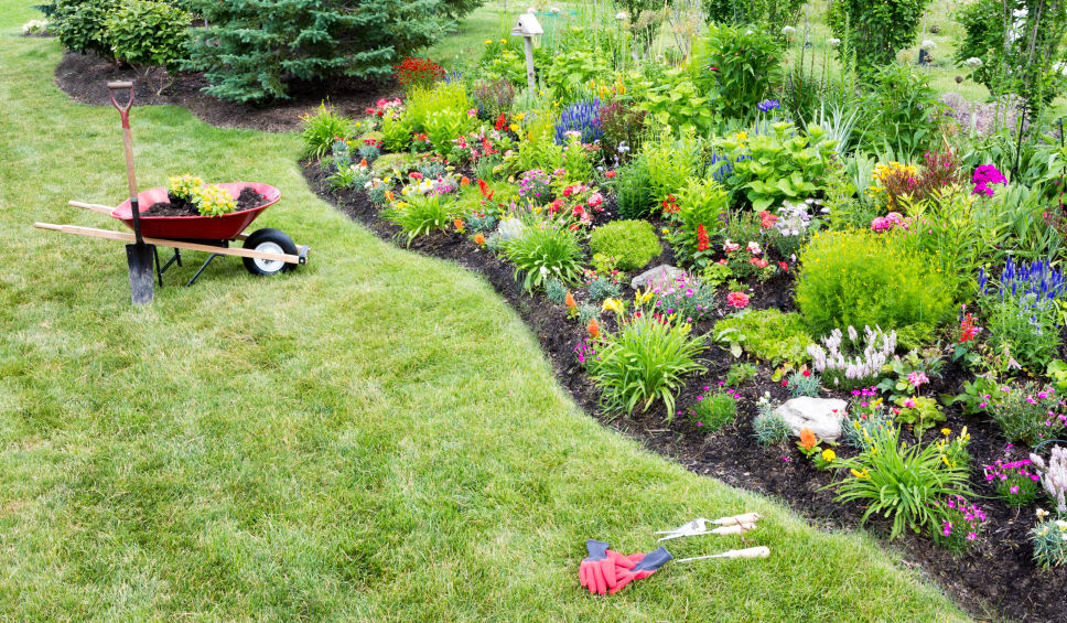 how to reduce yard work :: build